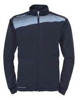 Uhlsport Mens Liga 2.0 Classic Sports Training Football Zip Jacket Top Navy ...