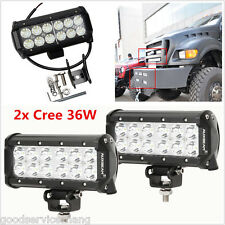 "2Pcs 7"" 36W LED Work Light Bar Beam Spot Off road Driving Fog Lamp SUV ATV 4WD"