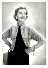 Knitting Pattern Vintage Ladies 1950s Patterned Cardigan/Jacket. size 12 - 16