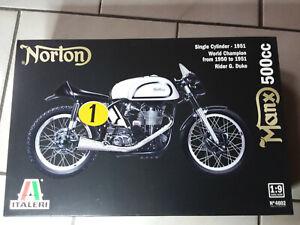 ITALERI # 4602 KIT MAQUETTE 1/9 A MONTER SUPERBE MOTO NORTON MANX 500cc1951 NEUF