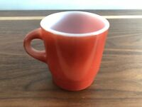 Vintage Anchor Hocking Fire-King Ware Mug Maroon / Red