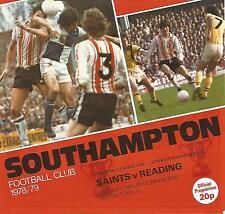 Southampton v Reading - League Cup Replay - 14/11/1978 - Football Programme