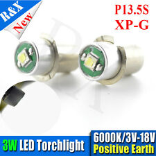 2X 3W Cree XPG P13.5S Led Flashlight Replacement bulb Torches Light White 200LM