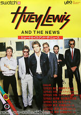 Huey Lewis & The News 1985 Japan Concert Poster UDO Swatch Watches Original