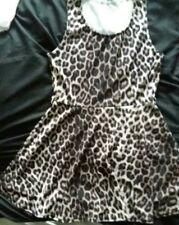 leapard patterned dress. size 14-15 years by new look.