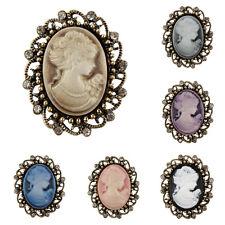 antik bronze Gemme Vintage Viktorianischer Stil Brosche in verschiedenen Farben