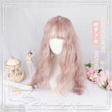 Wig Pink Daily Gothic Harajuku Kawaii Gradient Lolita Curly Mixed Coser JP Girls