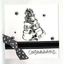 Congratulations Wedding Day Embellished Greeting Card By Tracey Russell Cards