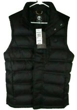 TIMBERLAND A1MLX-001 MEN'S BLACK QUILTED DOWN FILL VEST Size S(SMALL)
