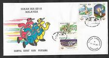 (FDC89016) MALAYSIA 1989 SEA Games XV Kuala Lumpur RARE Sarawak pmk FDC