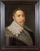 """oil painting portrait hand painted on canvas """"gustav ii adolf"""" N14598"""