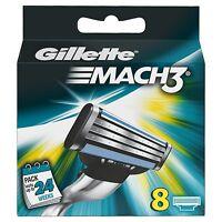 Gillette Mach 3 Manual Razor Blades - 8 Blades BRAND NEW FREE P&P