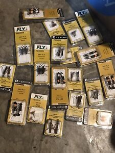 large Resale Lot Of SuperFLY New In 19 Packages-38 Dry Fly Flies Ant Grasshopper