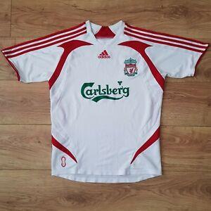 Liverpool Football Club Vintage Adidas Shirt 2007/08 - Size 32-34 - Large Boys