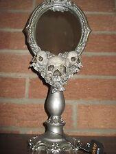 "NWT! Large Skull/Skeleton Mirror, Looking Glass,15.5"", Halloween Prop/Decoration"
