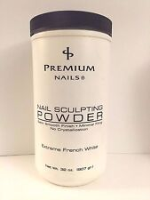 Premium Nails Sculpting Powder - 32oz/907g Extreme French White (Made in Usa)