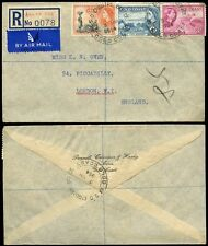 GOLD COAST REGISTERED 1954 ENQUIRY OFFICE POSTMARKS...AIRMAIL