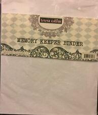3 Ring Binder Teresa Collins Memory Keeper Binder 8.25 x 9.75 White NEW!!!