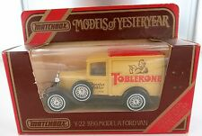 MATCHBOX MODELS OF YESTERYEAR Y-22 1930 MODEL A FORD VAN L/EDITION. TOBLERONE.