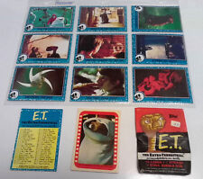 Topps E.T. The Extra-Terrestrial Pack of 10 Trading Cards & 1 Sticker 1982 Open