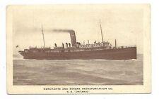 S. S. ONTARIO Merchants & Miners Transportation Co.