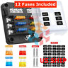 6 Way 12V~32V Auto Car Power Distribution Blade Fuse Holder Box Block Board USCC