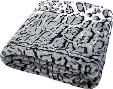Kuscheldecke Decke Überwurf Plaid Animal Print fellähnlich pelzähnlich 145x180cm