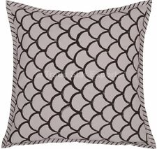 """Indian Block Printed Pillow Cover Boho Cotton Square 16"""" Cushion Sham With 2 Pcs"""