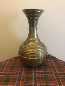 vintage brass vase Bulbous GE