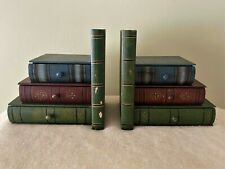 More details for collectable vintage wooden book ends book shaped hidden drawers desk organiser