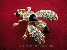"""Broche """"Abeille"""" N° 3 dorée Miel Maya Reine - Bijoux Bestiaire Cadeau"""