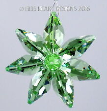 m/w Swarovski Crystal Peridot Flower Car Charm or SunCatcher Lilli Heart Designs