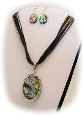 CVG - 37  ABALONE FLASH DRIVE WITH MATCHING EARRINGS