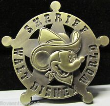 Disney WDW Sheriff Mickey Mouse Brass Star Artist Proof AP Pin