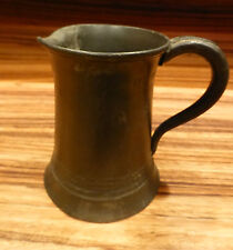 "Superb antique english Pewter mug marked 4"" minor issues [Y8-W6-A9]"