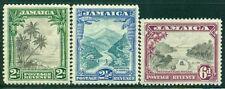 JAMAICA 106-08 SG111-13 MH 1932 Scenes set of 3 Cat$84