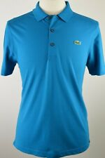 Men's Lacoste Sport Teal Blue Short Sleeved Polo Shirt Medium RRP £65