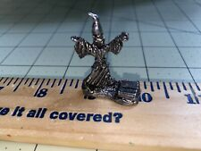 Pewter Fantasy Wizard With Spell Book