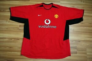 MANCHESTER UNITED 2002-2003-2004 HOME FOOTBALL SHIRT JERSEY NIKE VODAFONE XXL