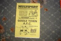 Goole Town v Leyland Motors 1985 football programme