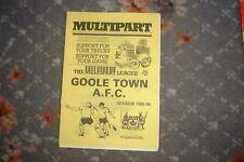 Goole Town V Marine 1985 programa de fútbol