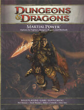 Dungeons & Dragons Rpg Martial Power Fourth (4) Edition New Exc 50% Off