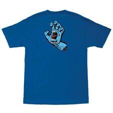 Santa Cruz Screaming Hand Skateboard T Shirt Royal Blue Xxl