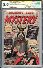JOURNEY INTO MYSTERY #85 CGC 8.0 SS 3X STAN LEE SIGNATURE 3RD THOR 1ST LOKI ODIN