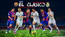 """112 Lionel Messi - VS Cristiano Ronaldo Barcelona Football Soccer 24""""x14"""" Poster"""