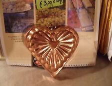 Old Dutch Heart Shaped Brass & Copper Mold ... Very Pretty!!!