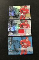 2015-16 UD FLEER SHOWCASE DYLAN LARKIN LOT OF (3) ROOKIE + JERSEY + BLUE /199