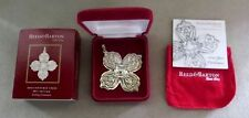 2010 REED & BARTON STERLING SILVER CHRISTMAS ORNAMENT NEW IN ORIGINAL BOX / COA