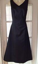 ABS by Allen Schwartz Black Satin Dress w/back detail covered buttons Size 14