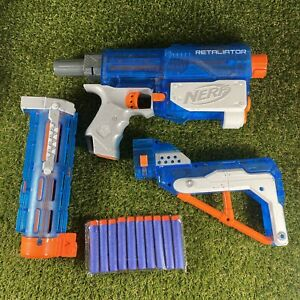 Nerf Elite Retaliator Ice Blue Blaster NOT WORKING - For Spares And Repairs